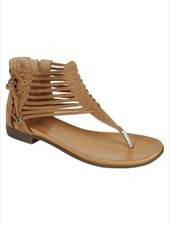 Tan Side Detail Strappy Sandal