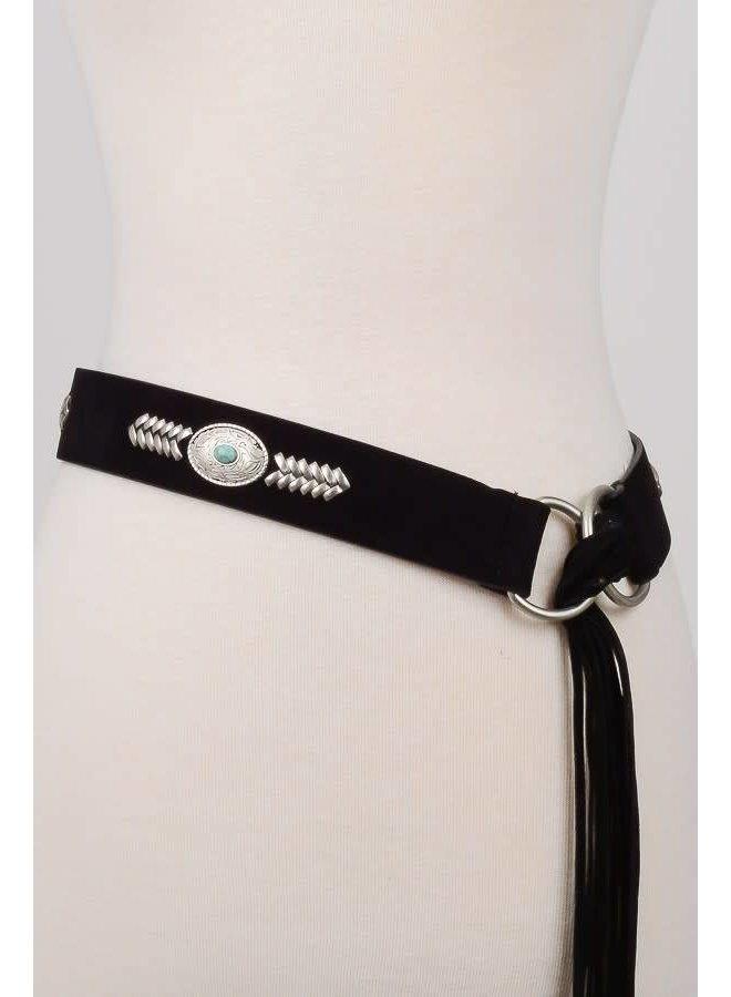 Boho Fringe Tassel Wrap Belt