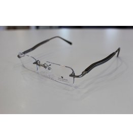 Gold & Wood Rimless Fashion Collection light, sophisticated frames with raw wood temples