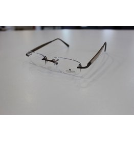 Gold & Wood Rimless Fashion Collection light, sophisticated frames with wood temples