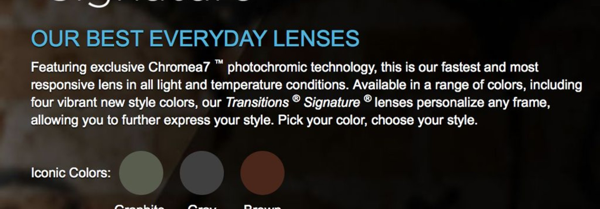 Transitions Lenses for Web Orders