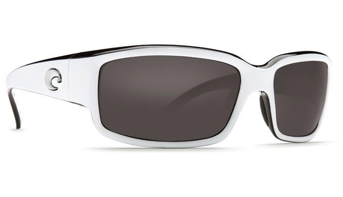 COSTA DEL MAR CABALLITO WHITE & BLACK, GREY GLASS 580G