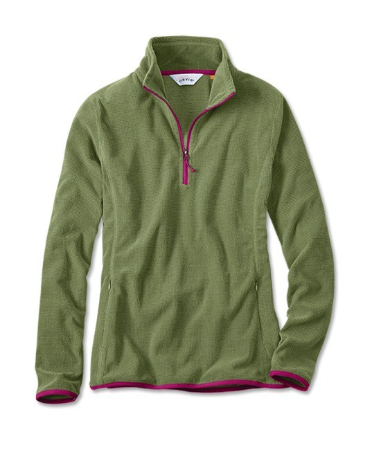 ORVIS WOMEN'S QUARTER ZIP MICROGRID FLEECE