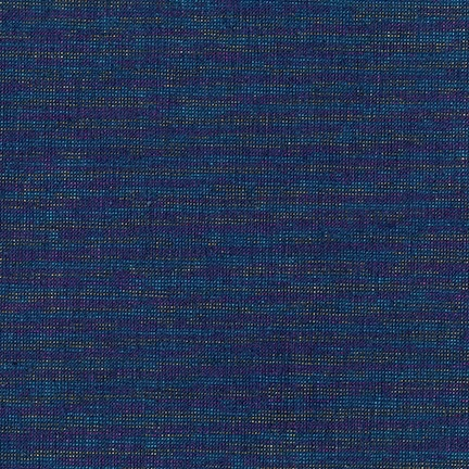 Robert Kaufman Essex Yarn Dyed Metallic Navy
