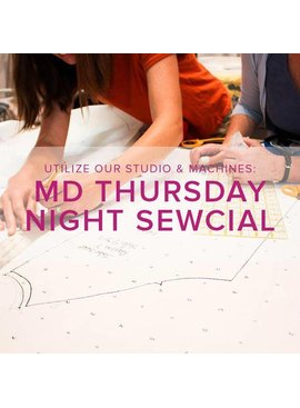 Modern Domestic Thursday Night Sewcial, Lake Oswego Store, Thursday, January 10, 5-8 pm