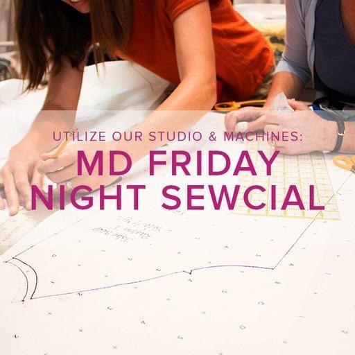 Modern Domestic Friday Night Sewcial, Alberta St. Store, Friday, December 21, 5-8 pm