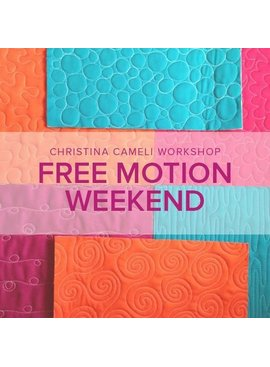 Christina Cameli CLASS FULL Free-Motion Quilting Weekend with Christina Cameli, Alberta St Store, Saturday and Sunday, January 26 and 27, 2-5 pm