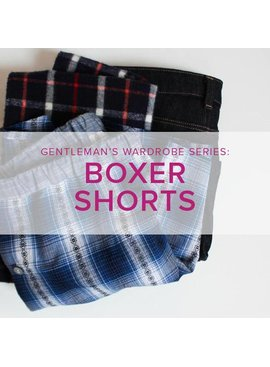 Lane Hunter Gentleman's Capsule Series: Men's Boxer Shorts, Alberta St. Store, Tuesdays, January 8 & 15, 6-9 pm