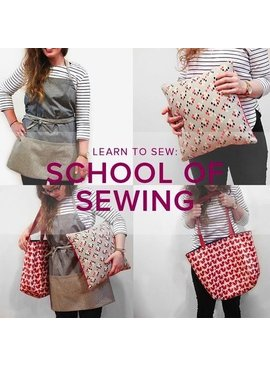 Karin Dejan Learn to Sew: School of Sewing, Lake Oswego Store, Wednesdays, February 6, 13, 20, & 27, 6-9 pm