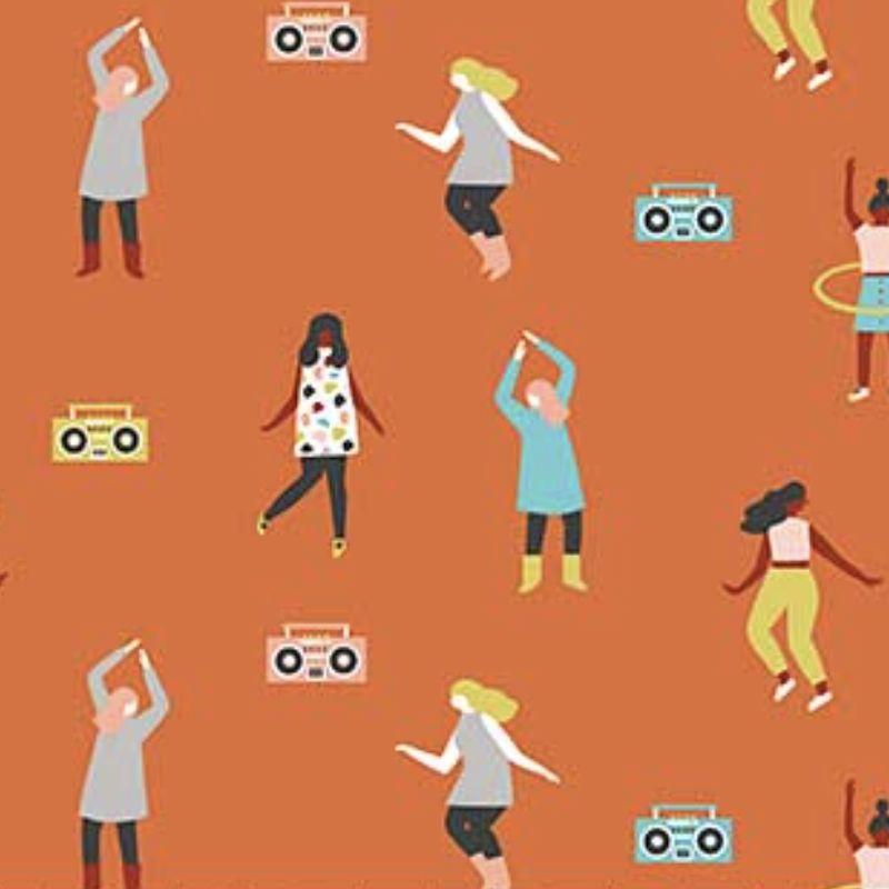 FIGO Perfect Day by Naomi Wilkinson Dance Party Orange