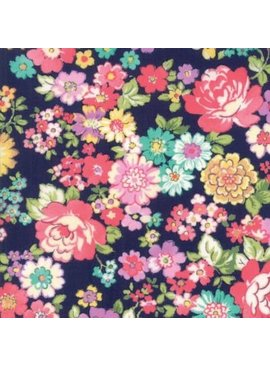 Moda Regent Street Lawns - Large Floral Navy