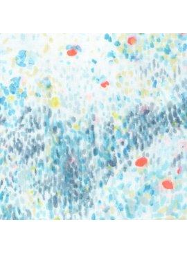 EE Schenck Nani Iro Double Gauze: Birds Eye Blues 100% Cotton