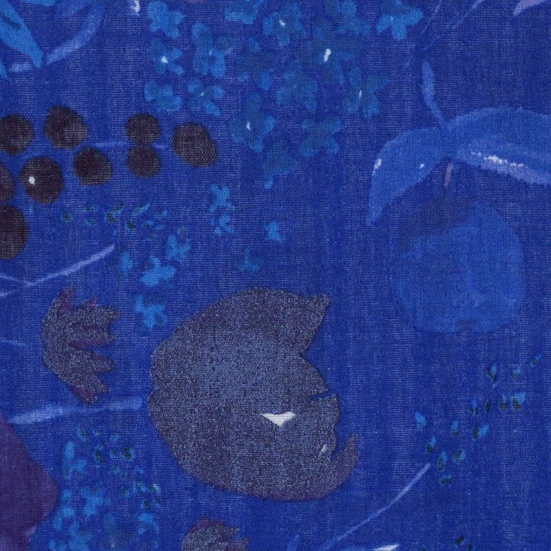 EE Schenck Nani Iro Double Gauze: Fuccra Rakuen Blue 100% Cotton