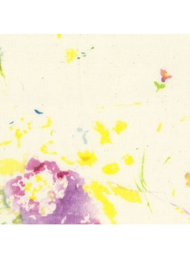 EE Schenck Nani Iro Double Gauze: Encounter Cream/Yellow 100% Cotton
