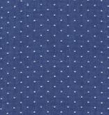 Robert Kaufman Cotton Chambray Dots Royal