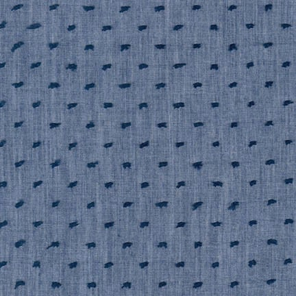 Robert Kaufman Swiss Dot Chambray Denim