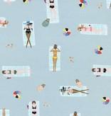 Cotton + Steel Amalfi by Rifle Paper Co. Sun Girls Sky Cotton Rayon Lawn