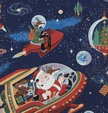 Alexander Henry Santa in Space Dark Blue by Alexander Henry