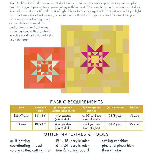 Fancy Tiger Crafts Fancy Tiger Crafts Double Star Quilt Pattern