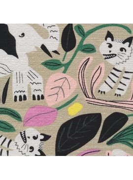 Cloud 9 Wild by Leah Duncan Jungle Forest Barkcloth