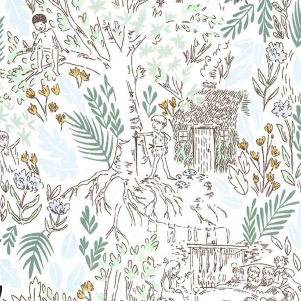 Michael Miller Fabrics Peter Pan by Sarah Jane: The Little House Fern