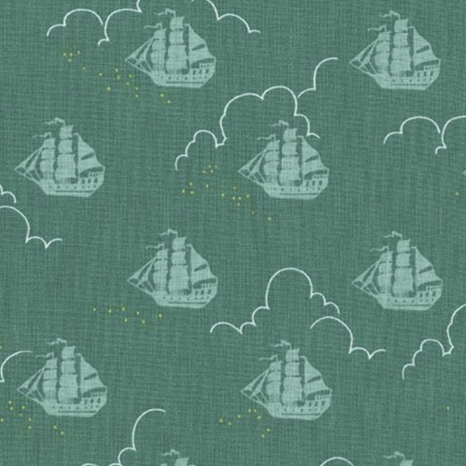 Michael Miller Fabrics Peter Pan by Sarah Jane: Jolly Roger Fern