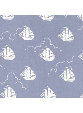 Michael Miller Fabrics Peter Pan by Sarah Jane: Jolly Roger Fog