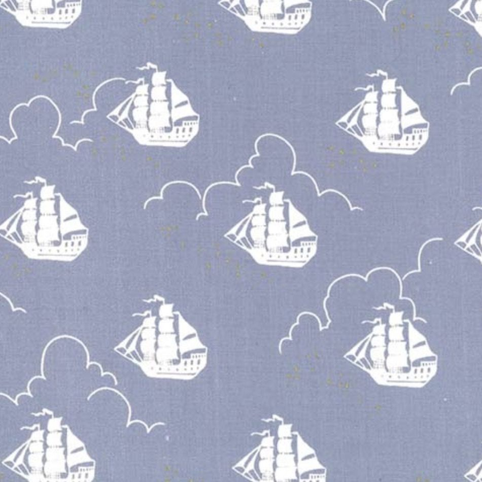 Michael Miller Fabrics Peter Pan by Sarah Jane: Jolly Roger Fog