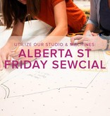 Modern Domestic Friday Night Sewcial, Alberta St. Store, Friday, March 1, 5-8 pm