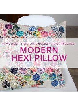 Cath Hall Modern Hexie Pillow, Lake Oswego Store, Saturdays, April 27 & May 4, 1-4pm