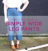 Jeanine Gaitan Learn to Sew Garments: Simple Wide Leg Pants, Alberta St Store, Wednesdays, May 1 & 8, 6-9pm
