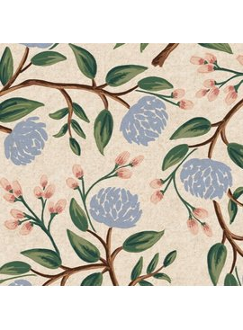 Cotton + Steel Wildwood by Rifle Paper Co. Peonies Canvas Cream