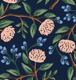 Cotton + Steel Wildwood by Rifle Paper Co. Peonies Dusty Blue