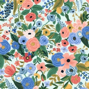 Cotton + Steel Wildwood by Rifle Paper Co. Petite Garden Party Blue