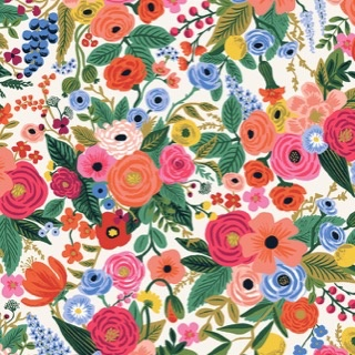 Cotton + Steel Wildwood by Rifle Paper Co. Petite Garden Party Pink Rayon