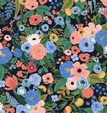 Cotton + Steel Wildwood by Rifle Paper Co. Petite Garden Party Navy Rayon
