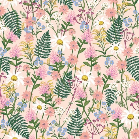 Cotton + Steel Wildwood by Rifle Paper Co. Wildflowers Pink