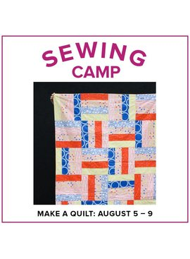 Cath Hall CLASS FULL Kids Sewing Camp: Make a Quilt! Lake Oswego Store, Monday-Friday, August 5-9, 2-5pm