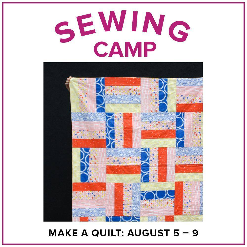 Cath Hall ONLY 1 SPOT LEFT Kids Sewing Camp: Make a Quilt! Lake Oswego Store, Monday-Friday, August 5-9, 2-5pm