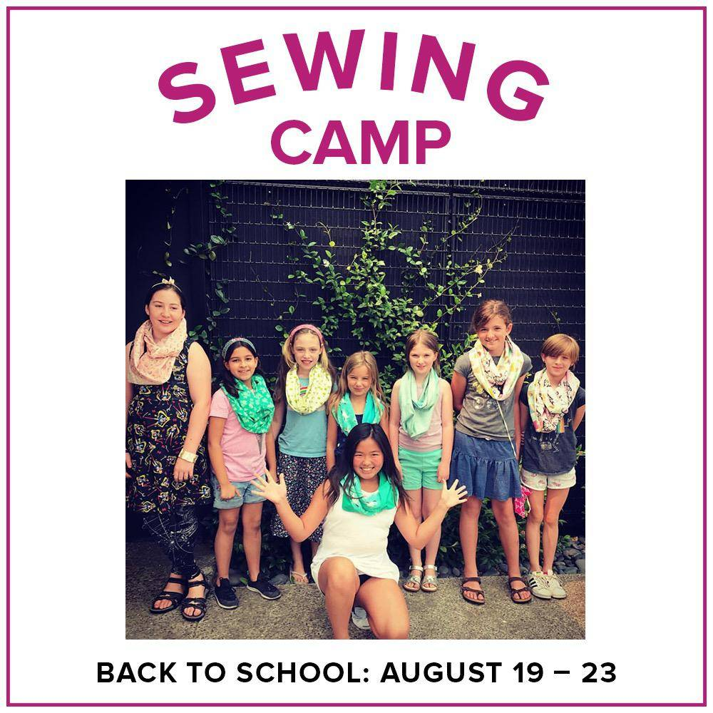 Karin Dejan ONLY 1 SPOT LEFT Kids Sewing Camp: Back to School!, Alberta St Store, Monday - Friday, August 19-23, 10am-1pm