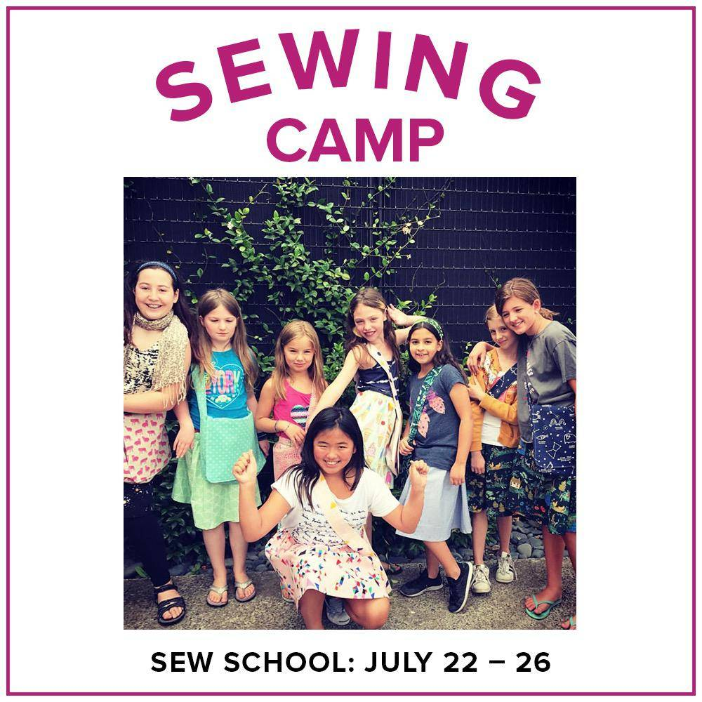 Karin Dejan CLASS FULL Kids Sewing Camp: Sew School!, Alberta St. Store, Monday - Friday, July 22-26, 10am-1pm