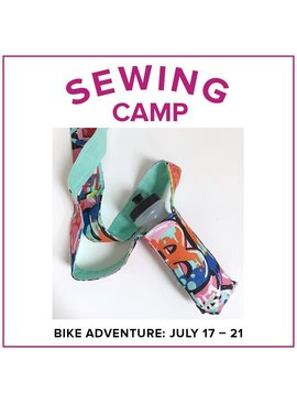 Jill Farrell Kids Sewing Camp: Bike Adventure, Lake Oswego Store, Monday - Friday, June 17-21, 9am-12pm