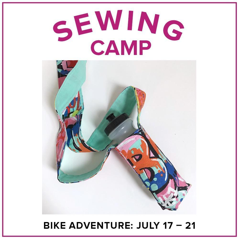 Jill Farrell Kids Sewing Camp: Bike Adventure, Lake Oswego Store, Monday - Friday, June 17-21, 9am-12pm