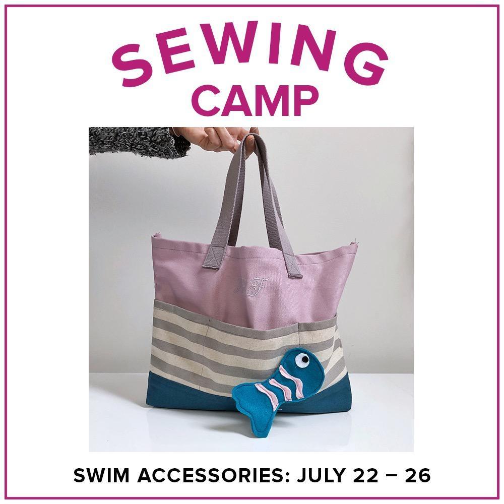Jill Farrell Kids Sewing Camp: Swim Accessories, Lake Oswego Store, Monday - Friday, July 22-26, 9am-12pm