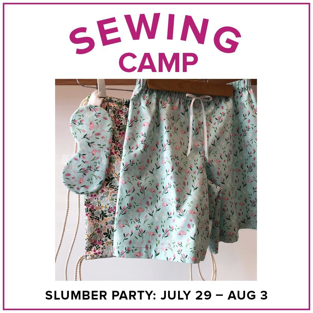 Jaylin Redden-Hefty Kids Sewing Camp: Slumber Party, Lake Oswego Store, Monday - Friday, July 29-August 3, 10am-1pm