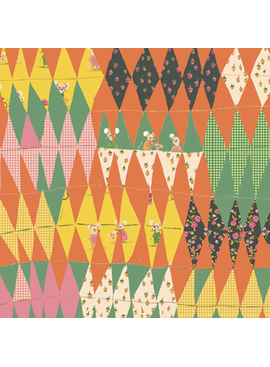Windham Fabrics Trixie by Heather Ross Patchwork Diamonds Green