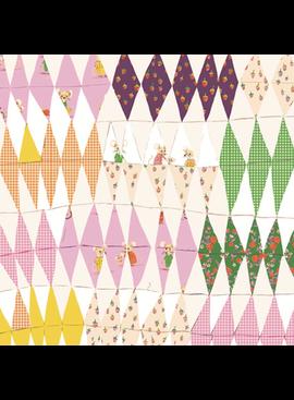 Windham Fabrics Trixie by Heather Ross Patchwork Diamonds Blush