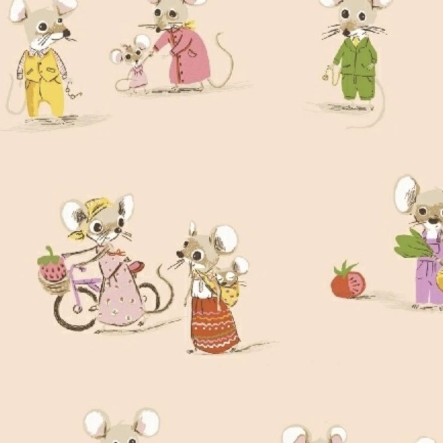 Windham Fabrics Trixie by Heather Ross Market Mice Blush