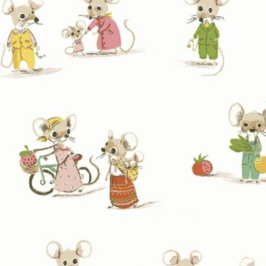 Windham Fabrics Trixie by Heather Ross Market Mice White