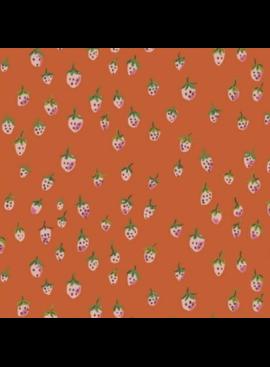 Windham Fabrics Trixie by Heather Ross Strawberries Orange